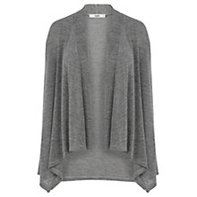 Buy Oasis Marl Drape Cardigan, Mid Grey Online at johnlewis.com