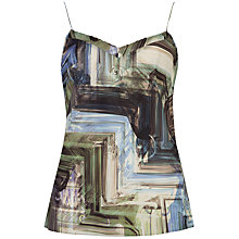 Buy Ted Baker Printed Scallop Edge Cami, Multi Online at johnlewis.com