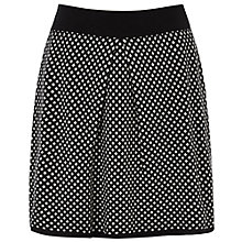 Buy Oasis Texture Skirt, Black Online at johnlewis.com