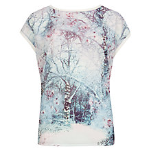 Buy Ted Baker Snow Scene T-Shirt, Light Grey Online at johnlewis.com