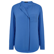 Buy Oasis Frill Front Shirt, Blue Online at johnlewis.com