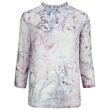 Buy Ted Baker Snow Blossom Embellished Top, Light Grey Online at johnlewis.com