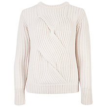 Buy Ted Baker Twist Cable Chunky Knit Jumper, Straw Online at johnlewis.com