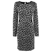 Buy Oasis Sparkle Animal Bodycon Dress, Grey Online at johnlewis.com