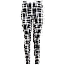Buy Miss Selfridge Large Check Tube Trousers, Multi Online at johnlewis.com
