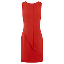 Buy Oasis Drape Front Shift Dress, Bright Orange Online at johnlewis.com