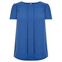 Buy Oasis Jenny Crepe Top, Mid Blue Online at johnlewis.com