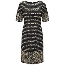 Buy Adrianna Papell Border Lurex Knit Dress, Black Online at johnlewis.com