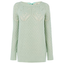 Buy Oasis Bow Back Longline Jumper Online at johnlewis.com
