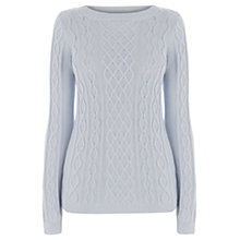Buy Oasis Boxy Cable Jumper, Light Blue Online at johnlewis.com