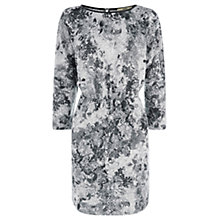 Buy Oasis Rose Print Dress, Grey Online at johnlewis.com