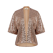 Buy Oasis Sequin Kimono, Pale Pink Online at johnlewis.com