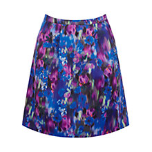Buy Oasis Blurred Rose Full Print Skirt, Multi Online at johnlewis.com