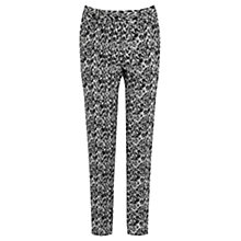 Buy Oasis Mono Jacquard Trousers, Black Online at johnlewis.com