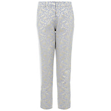 Buy Miss Selfridge Jacquard Trousers, Pale Blue Online at johnlewis.com