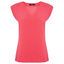 Buy Oasis Crepe V-Neck T-Shirt Online at johnlewis.com