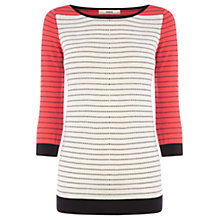 Buy Oasis Pin Dot Jumper, Off White Online at johnlewis.com