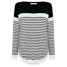 Buy Oasis Colour Block Stripe Top Online at johnlewis.com