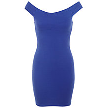 Buy Miss Selfridge Petite Bardot Dress, Cobalt Online at johnlewis.com