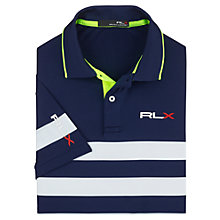 Buy Polo Golf by Ralph Lauren RLX Stripe Polo Shirt, French Navy/White Online at johnlewis.com