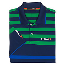 Buy Polo Golf by Ralph Lauren RLX Multi Striped Polo Shirt, East Side Royal Multi Online at johnlewis.com