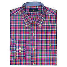 Buy Polo Golf by Ralph Lauren Poplin Check Shirt Online at johnlewis.com