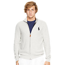 Buy Polo Golf by Ralph Lauren Merino Zip-Up Cardigan, Grey Heather Online at johnlewis.com