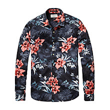 Buy Scotch & Soda Floral Poplin Shirt, Navy Online at johnlewis.com