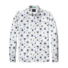 Buy Scotch & Soda Summer Slub Floral Shirt, White/Blue Online at johnlewis.com