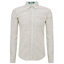Buy Scotch & Soda All Over Print Shirt, Cream Online at johnlewis.com