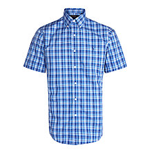 Buy Polo Ralph Lauren Madras Poplin Shirt, Navy Online at johnlewis.com