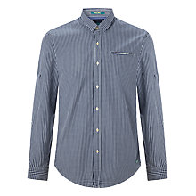 Buy Scotch & Soda Micro Check Poplin Shirt, Navy Online at johnlewis.com