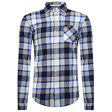 Buy Scotch & Soda Summer Rocker Check Shirt, Blue Online at johnlewis.com