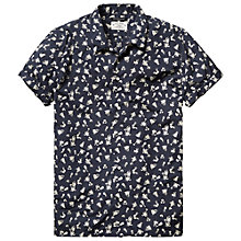 Buy Scotch & Soda Crisp Short Sleeve Shirt, Navy Online at johnlewis.com