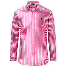 Buy Polo Golf by Ralph Lauren Striped Poplin Shirt Online at johnlewis.com