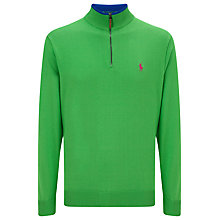 Buy Polo Golf by Ralph Lauren Half Zip Pima Cotton Jumper Online at johnlewis.com