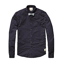Buy Scotch & Soda Polka Dot Bow Tie Shirt, Navy Online at johnlewis.com