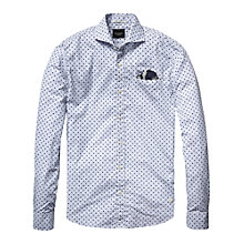 Buy Scotch & Soda Fine Check Shirt, Blue/White Online at johnlewis.com
