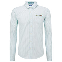 Buy Scotch & Soda Poplin Stripe Shirt, Navy Online at johnlewis.com