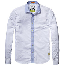 Buy Scotch & Soda Contrast Collar Shirt, White Online at johnlewis.com