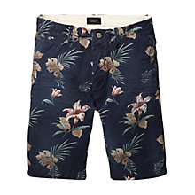 Buy Scotch & Soda Floral Twill Chino Shorts, Navy/Multi Online at johnlewis.com