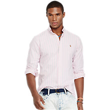 Buy Polo Ralph Lauren Custom Fit Striped Oxford Shirt Online at johnlewis.com