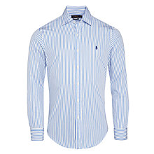 Buy Polo Ralph Lauren Bradford Custom Fit Stripe Shirt, Blue Online at johnlewis.com