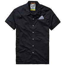 Buy Scotch & Soda Polka Dot Short Sleeve Shirt, Navy Online at johnlewis.com