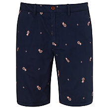 Buy Scotch & Soda Embroidered Pineapple Chino Shorts, Navy Online at johnlewis.com