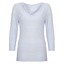 Buy John Lewis Capsule Collection Soft Cowl Neck Top, Heather Blue Online at johnlewis.com