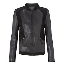 Buy Minimum Leather Jacket, Black Online at johnlewis.com