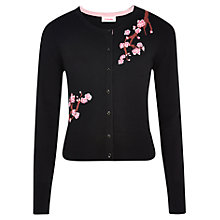 Buy Louche Sakura Embroidered Cotton Cardigan, Black Online at johnlewis.com