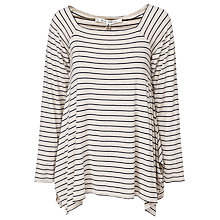 Buy Max Studio Long Sleeve Top, Bone/Navy Online at johnlewis.com
