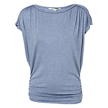 Buy Max Studio Ruched Shoulder Top, Chambray Online at johnlewis.com